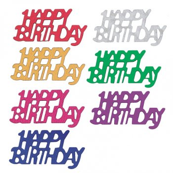 Confettis Happy birthday Multicolores (2,5 cm)