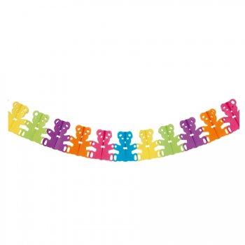 Guirlande Oursons Rainbow (4 m) - Papier
