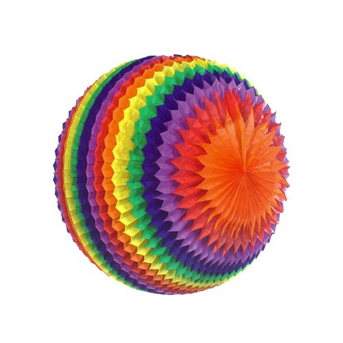 1 Boule Rainbow 3D éventail XXL