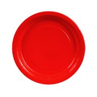 8 Assiettes Rouge