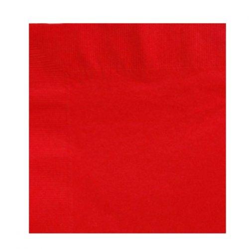 20 serviettes Rouge