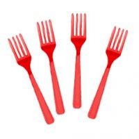 Contient : 1 x 8 fourchettes rouges