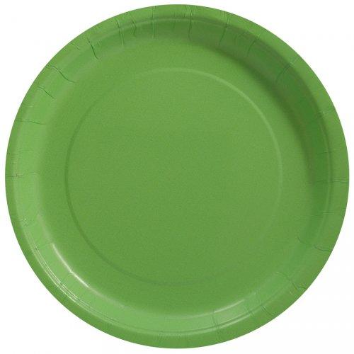 8 Assiettes Vert