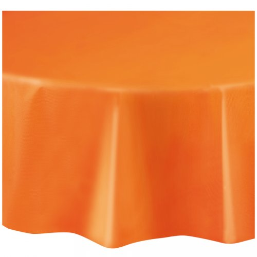 Nappe Ronde Unie Orange - Plastique