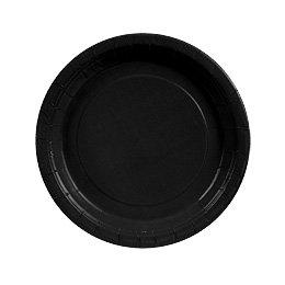 8 Assiettes Noir