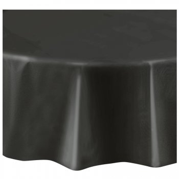 Nappe Ronde Unie Noir - Plastique
