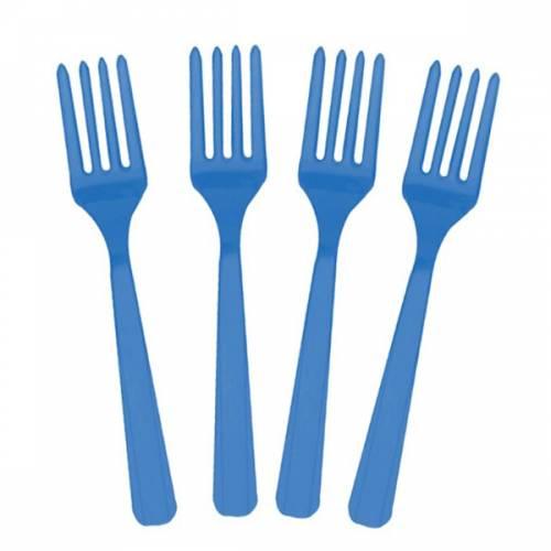 20 fourchettes bleues
