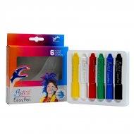 6 Crayons Aqua