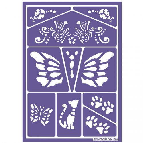 Pochoirs de Maquillage Chats et Papillons