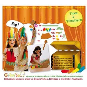 Set déguisement à décorer Indien,Indienne