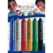 6 Crayons à maquillage - Couleurs Primaires
