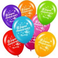 Contient : 1 x 8 ballons Annikids Joyeux Anniversaire