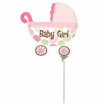 Ballon sur Tige Landeau Baby Girl