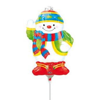 Ballon sur Tige Bonhomme de neige