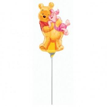 Ballon sur Tige Winnie et Porcinet