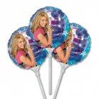 3 Ballons sur Tige Hannah Montana