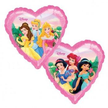 Ballon Hélium Princesses Disney Coeur