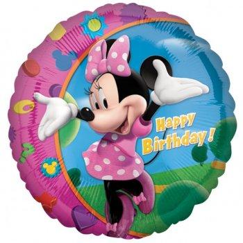 Ballon Hélium Minnie Happy Birthday
