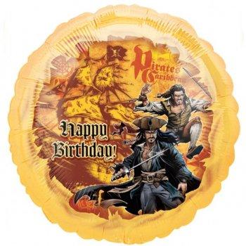 Ballon Hélium Pirate Happy Birthday