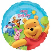 Ballon H�lium Winnie Happy Birthday