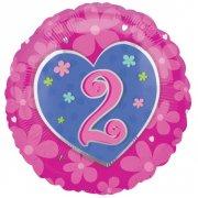 Ballon Hélium Coeur 2 ans