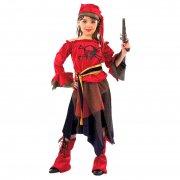 Déguisement de Pirate fille rouge