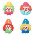 4 t�tes de Clowns en sucre � plat