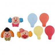 Clowns et ballons en sucre