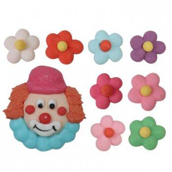Tête de Clown et Fleurs en sucre