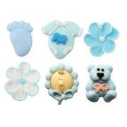 6 Figurines Bébé Bleu