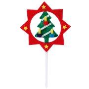 4 Pics Etoiles et Sapins de Noël en Feutrine
