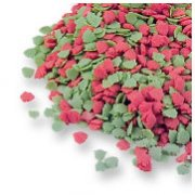 Sapins rouges et verts à parsemer