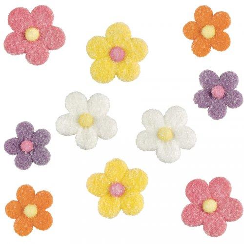 10 Fleurs en sucre cristallisé