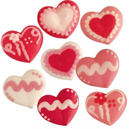 8 Petits Coeurs en sucre