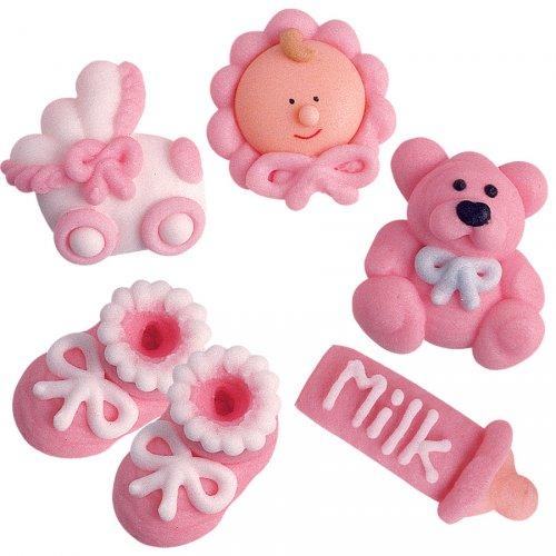 5 figurines Bébé Fille