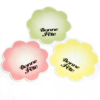Plaquette Fleur Bonne Fête