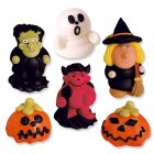 5 figurines Halloween 3D