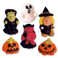 6 figurines Halloween 3D