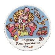 Plaquette Clown Joyeux Anniversaire