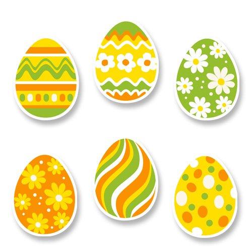 6 Décors Oeufs de Pâques à Plat