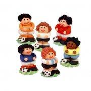 4 Figurines footballeurs en sucre
