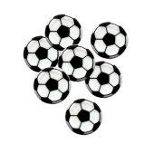 4 Décors Ballon de Foot à Plat