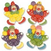 1 clown en sucre � plat