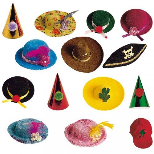 8 minis chapeaux assortis