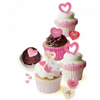 8 coeurs en sucre cristallisé