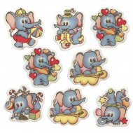 6 Décors Éléphants à Plat