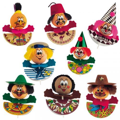 4 figurines Fête Foraine sur pics