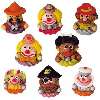 4 figurines Fête Foraine en sucre