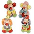 4 Clowns assis 3D en sucre