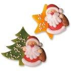 Etoile et Sapin avec Père Noël en sucre et pâte d'amande